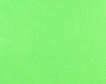 "Neon Lime Acrylic Craft Felt by the Yard - 1/16"" Thick, Available Plain (72"" Wide) or with a Peel-and-Stick Adhesive Backing (36"" Wide)"