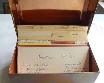 Copper Recipe Box with recipes