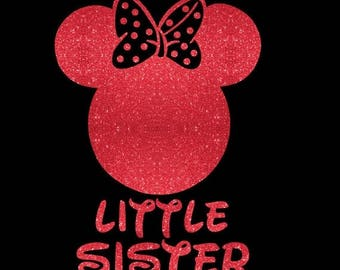 SALE Minnie Mouse Little Sister SVG JPEG instant digital file download for vinyl cutters