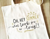 Funny Tote Bag, British Summer Weather Humour, Reusable Cotton Canvas shopping shopper bag, funny gift