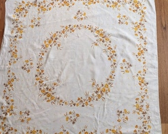 Sale Sweet Yellow Floral Tablecloth
