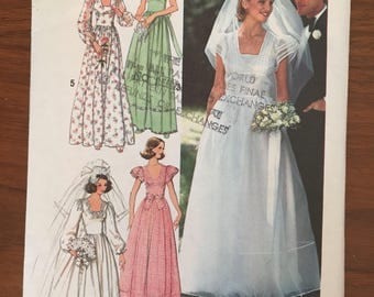 Vintage Simplicity 7886 Wedding Dress or Bridesmaid Dress - size 10