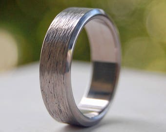 Titanium wedding ring, wedding ring, titaniun rings, mens ring, womens rings, eco-friendly, all metal - CAT SCRATCH FEVER