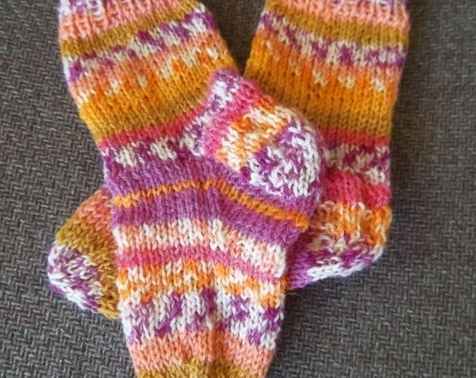 Socks for Babies - Handknitted Socks  - for Baby up to 12 month- Size 6  US Children