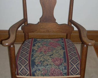 Vintage Upholstered Oak Rocking Chair Pick Up Buffalo, NY