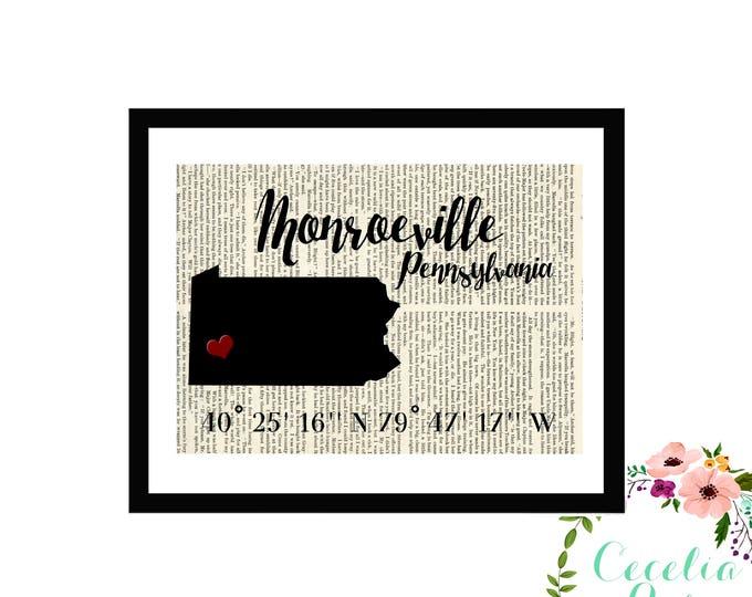Monroeville Pennsylvania Custom Coordinates