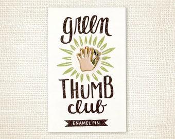 Enamel Pin - Green Thumb (Light)