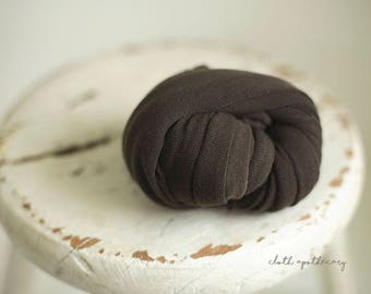 Newborn Wrap - Baby Wrap - Stretch knit wrap - Photography Prop - WALNUT Brown - WEAVE Knit