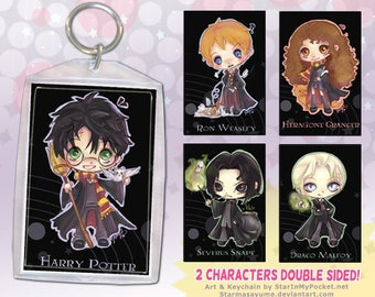 HP Anime Keychain Double-Sided