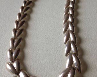"Silver Leaf Necklace 19"""