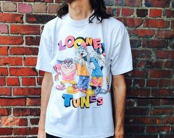 Vintage Looney Tunes 1998 Hip Hop Shirt Large