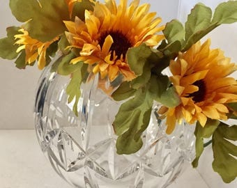 ON SALE Sunflower Crown, Flower Wreath, Hair Accessory, Circlet, Wedding, Fairy Crown, Bridal Party, Fairy Costume, Halloween
