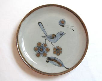 Vintage Tonala by Ken Edwards, Blue, Birds and Bugs, Salad Plate