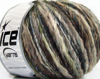 Granite Thin Thick 46701 Ice Wool Alpaca Acrylic Viscose Yarn - 50 gram 98 yards