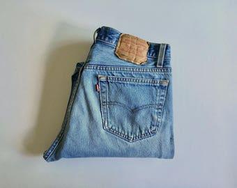 Vintage Men's 80's Levi's 501XX, Blue Jeans, Red Tab, Denim (W32 x L30)
