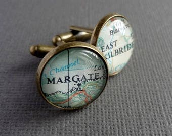 Personalised Map Cufflinks for Lolopret - Tucson, AZ