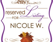 Custom Purple Falling In Love Hand Cut Maple Leaf Wedding Invitation Sets, Fall Wedding Invitation, Rustic Invite... Reserved for Nicole W.