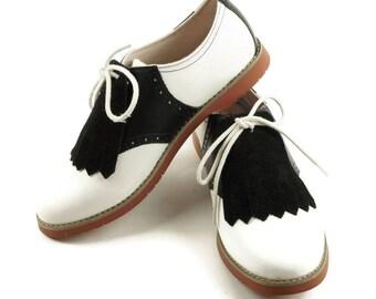 Black Suede Kilties for Womens Golf Shoes, Black Kiltie, 1950s Fashion, Golf Shoe Kilties, Golf Gifts, Swing Dance Shoe Decoration