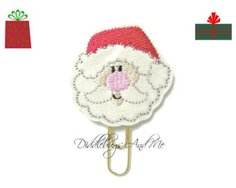 Santa Claus Planner Clip, Christmas Paper Clip, Vinyl Paper Clips, Planner Accessories, Christmas Reminders, Teacher Gifts, Holiday Gifts