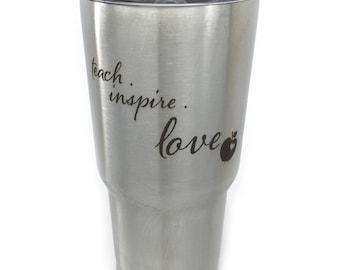 Teacher Tumbler Favorite Teacher A+ Inspire Teacher Gift Gift For Teacher Teach Inspire Love For Teacher Teach On
