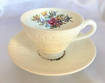 Vintage Wedgwood Wellesley Pattern Tea Cup and Saucer