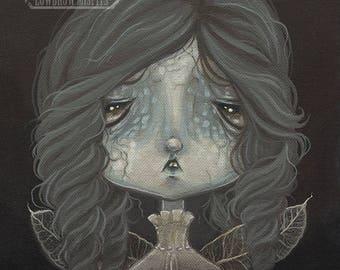 Fairy GHOST girl lowbrow gothic fantasy art print big eye pop surreal - Fairy 16