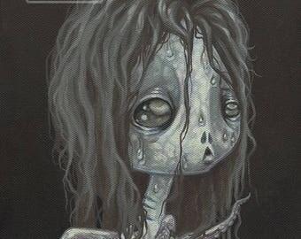 Fairy fish girl lowbrow lovecraft gothic fantasy art print big eye pop surreal - Fairy 17