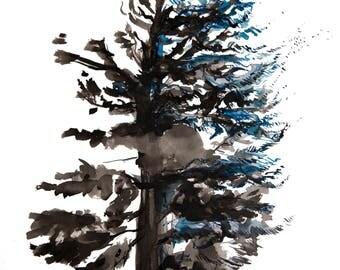 minimalist watercolor print: Fall<Winter