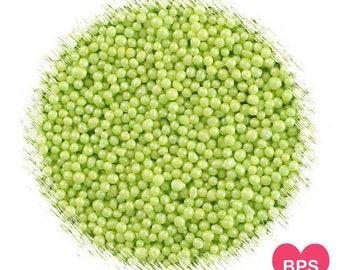 Shimmer Lime Green Nonpareil Sprinkles, Shimmer Lime Green Sprinkles, Lime Nonpareils, Edible Sprinkles, 100's & 1000's, Lime Sprinkles