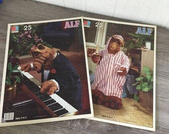 Vintage Alf puzzles 1987 set of two