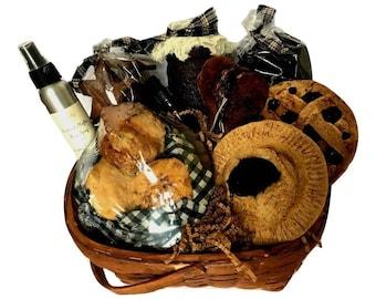 Primitive Crow Kitchen Gift Basket - Prim Kitchen Decor - New Home Gift Basket