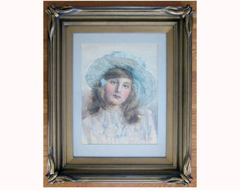 signed Royal Academy PUTT RA watercolor incredible batwing frame