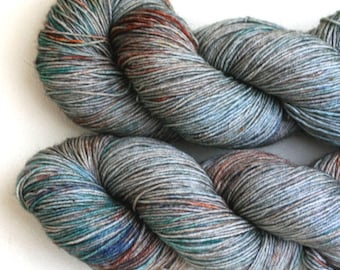 Brook Trout - Avalon BFL hand dyed Sock yarn 100g