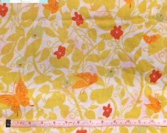Vintage Twin Fitted Sheet with Butterflies