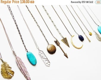 2 Boho Necklaces Women Layering Necklace CHOOSE 2 NECKLACES Tibal Feather Necklace, Turqouise Necklace, Layering Necklace Tribal Necklace