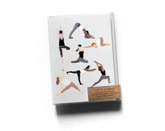 Boxed Set of 8 Group Yoga Cards
