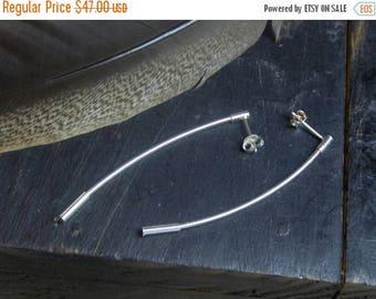 SALE Sterling Silver Minimalist Bar Post Earrings