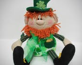 Saint Patrick Day Leprechaun | Décoration de St Patricks day | Poupée lutin | Décoration irlandaise | St. Patricks day poupée | Decor celtique