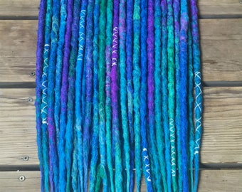 40SE or 20DE CUSTOM Crocheted Dreadlock Extensions - Made to Order Synthetic Dread Set - FREE SHIPPING!