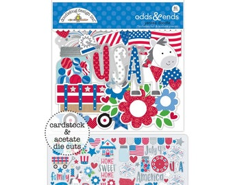 Yankee Doodle Doodlebug Odds & Ends Die-Cuts 81 die cut pieces (5597)