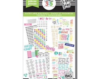 Dates and Holidays Happy Memory Keeping Sticker Value Packs (2601/Pkg) Me and My Big Ideas (PPSV-19-2048)