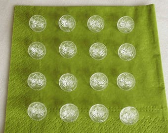 16 small   clear glass buttons  -  with very pretty surfaces - ( - 13.5 mm - 9/16  in.)