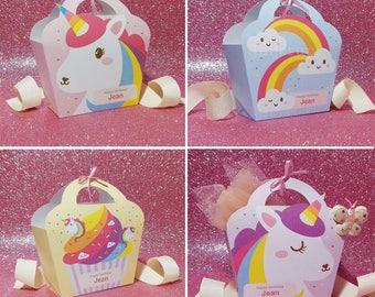 Kawaii Cute Unicorn Rainbow Giftbag Pink Unicorn Purple Unicorn Rainbow Cloud Unicorn Cupcake Treat Basket EDITABLE Printable PDF offer