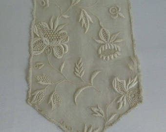Vintage Organdy  Fabric Lace