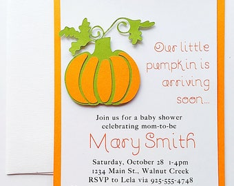 Baby Shower Invitation Girl. Pumpkin Baby Shower Invitation. Baby Shower Invite. Gender Neutral Baby Invitation. Baby Shower Invitation Boy.