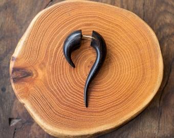 Maui Wood fake expanders, Tribal jewellery, Fake gauge jewellery, Fake expanders, Fake ear stretcher, Fake piercing, Wood earrings