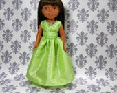 Designed for 14.5 inch dolls such as Wellie Wishers, Green Princess Fancy Gown Dress, 06-2129