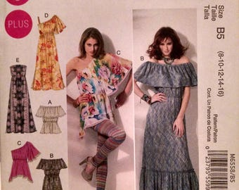 McCall's M6558 new uncut misses dress and top pattern