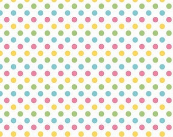 last call Cotton Dots Small by Riley Blake Designs, Cotton Dots Girl 1/2 yard