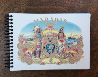 Cigar Label Artwork Notepad 5 and Under Indian Chief Maiden Maradas